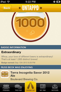 1,000th Untappd Unique Checkin: Sierra Nevada / Boulevard Terra Incognita – SAVOR Beer