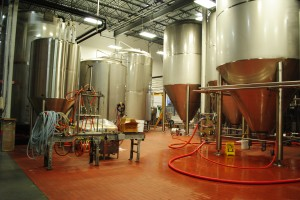 Tröegs Brewing Eqipment, with Mad Elf Rig (at left)