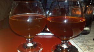 Side by side: Regular 07.07.07 and barrel aged.