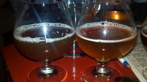 Side by side: French oak barrel aged and regular.