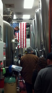 The entire brewing facility. Cramped, but America.
