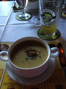 Cream of Roasted Corn Soup paired with Pils